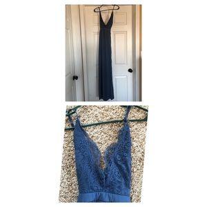 Tobi Blue Maxi Dress, Formal